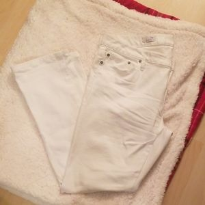Gap long and lean 34R white jeans